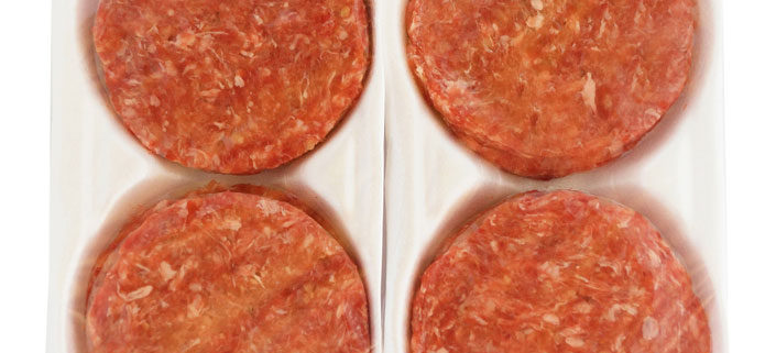 Hamburger Patties (per 800g) - packed as 2 x (4 X 100g) patties